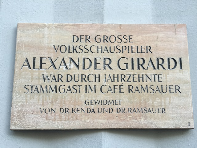 Alexander Girardi   Café Ramsauer   Bad Ischl