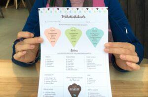 Frühatücksblock im Cafe Eiszeit in Seewalchen