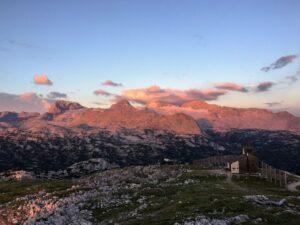 Dachsteinblick vom Krippenstein zum Sonnenaufgang