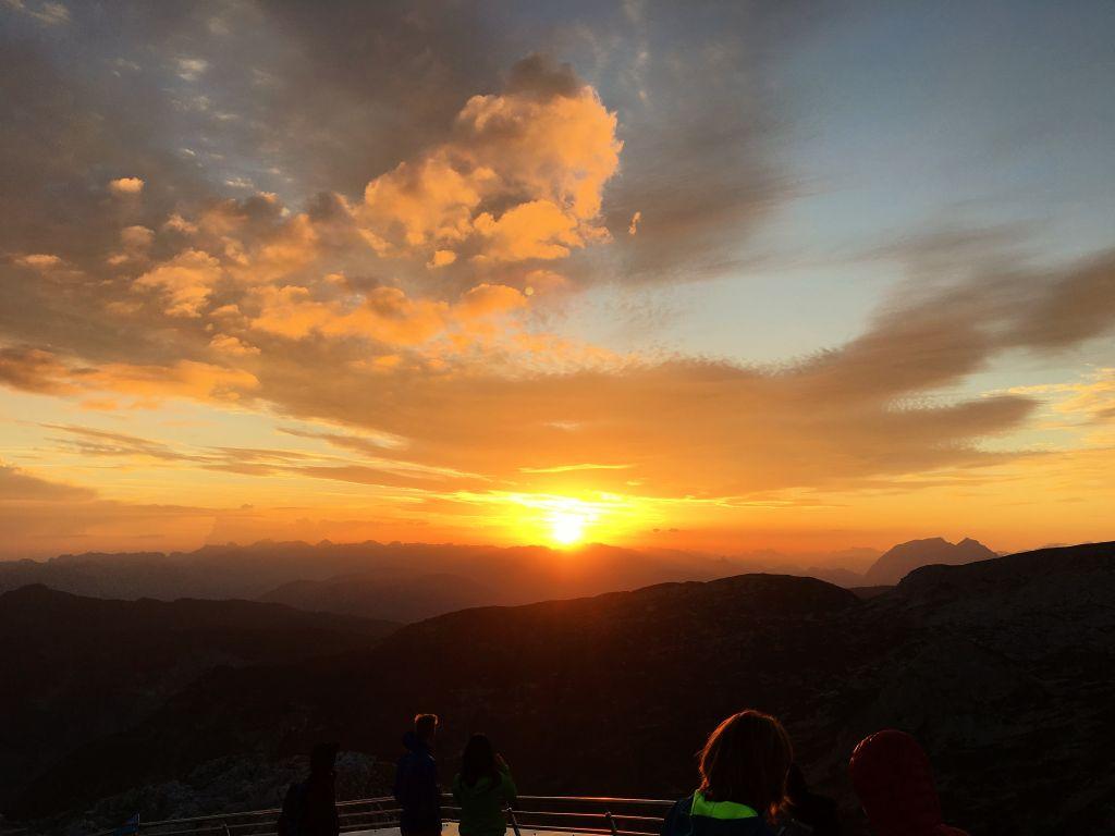Sonnenaufgang am Krippenstein - ein besonderes Erlebnis