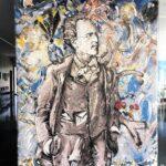 Das Mahler-Mosaik von Christian Ludwig Attersee im Gemeindeamt von Steinbach.