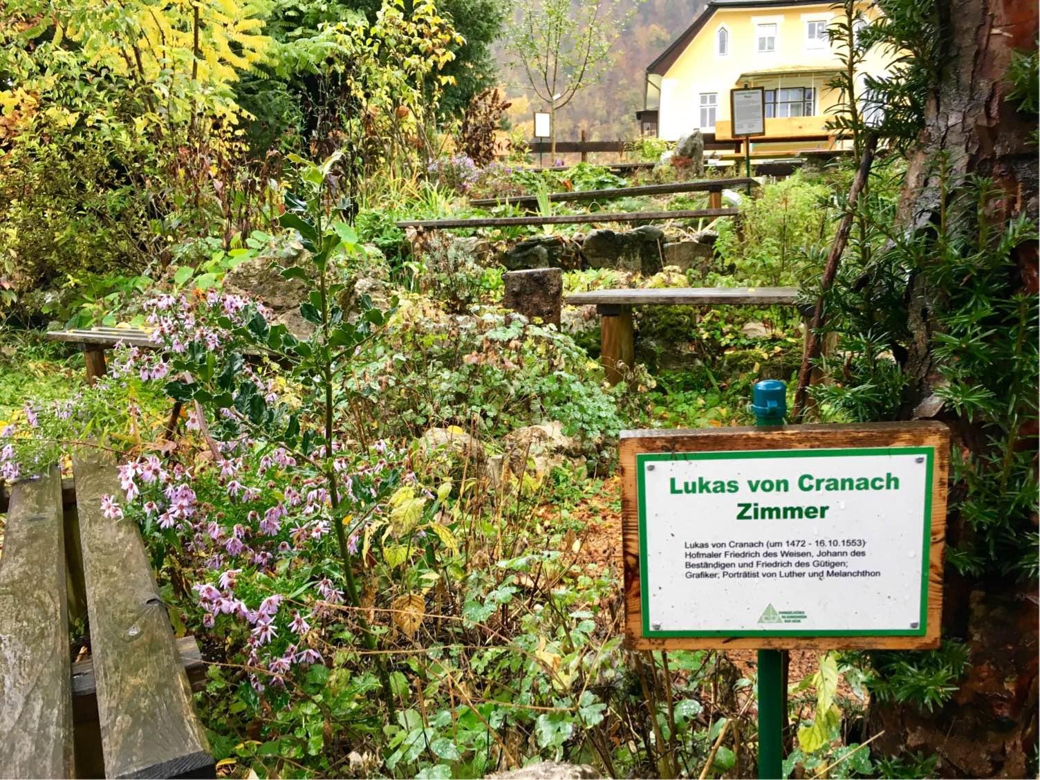 Lukas von Cranach Zimmer im Carolus Clusius Garten
