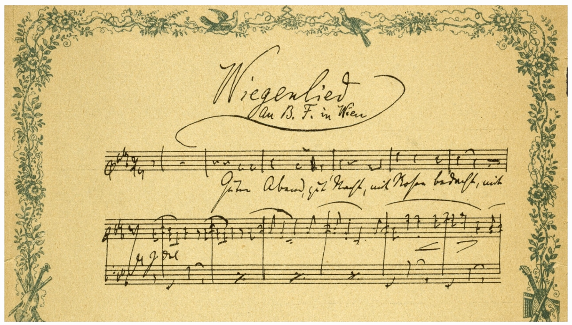 Johannes Brahms Wiegenlied