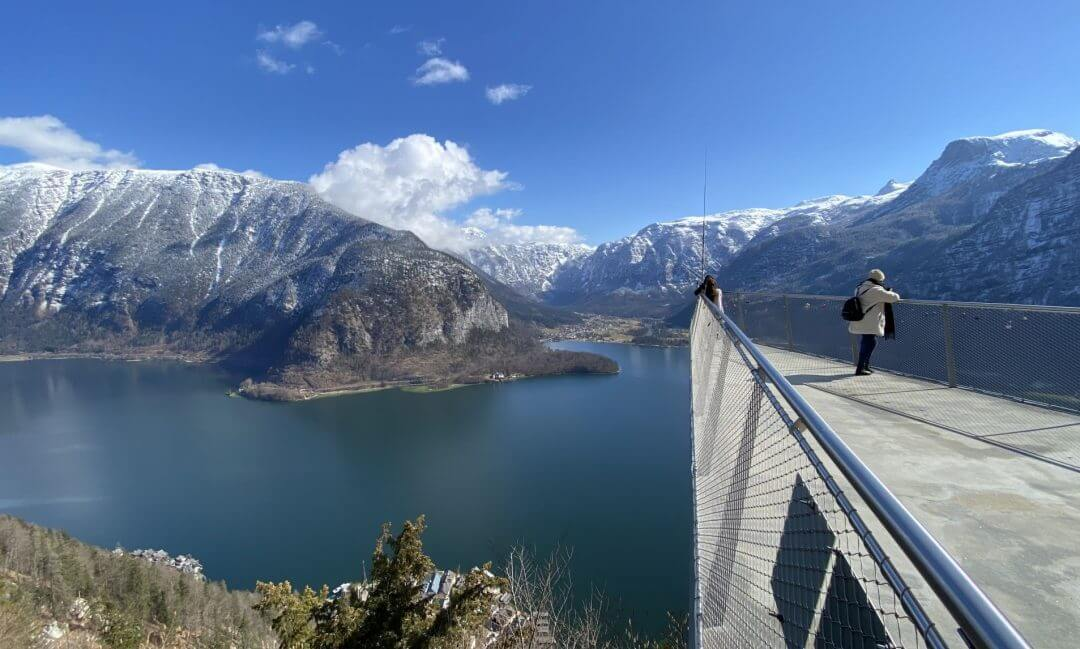 Am Skywalk in Hallstatt